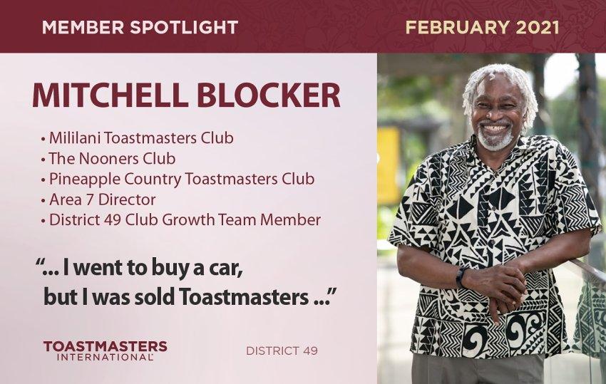 Mitchell Blocker Toastmasters