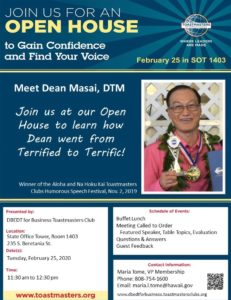 DBEDT Open House