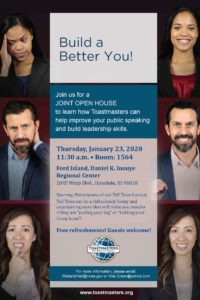Ford Island Toastmasters Open House
