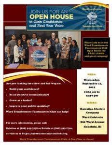 Ward Open House Flyer