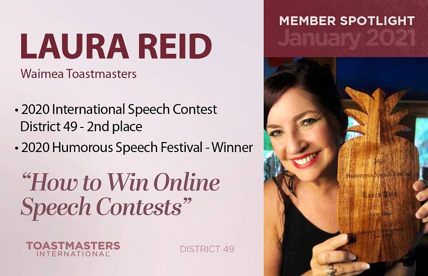 Laura Reid Member of the month
