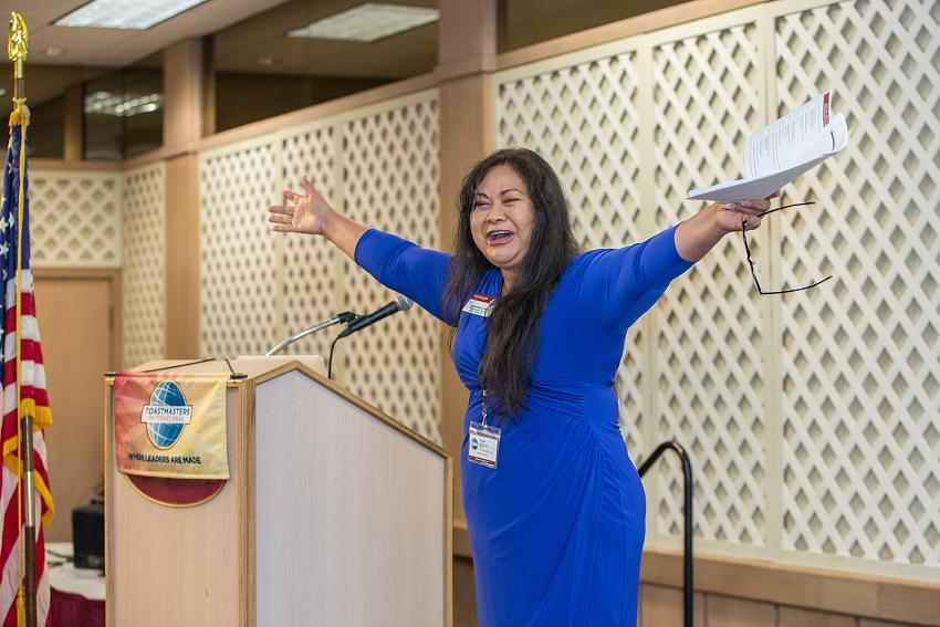 Rose Kirland at Toastmasters Conference