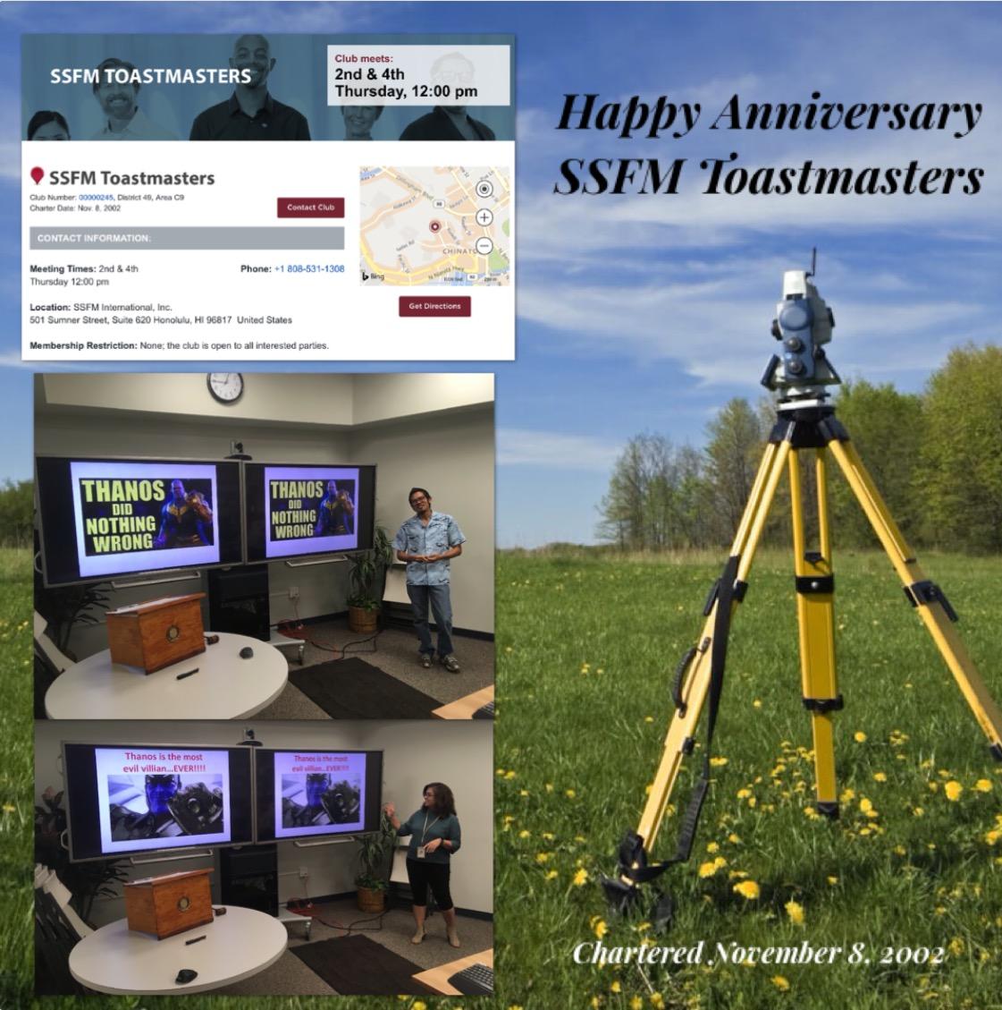 SSFM Toastmasters Anniversary Flyer